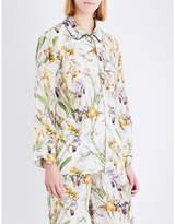 Alexander McQueen Wild Iris silk-crepe de chine pyjama shirt