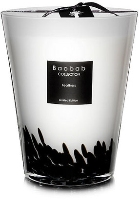 """Baobab Collection Feathers Candle - Saffron & Black Rose 9"""""""