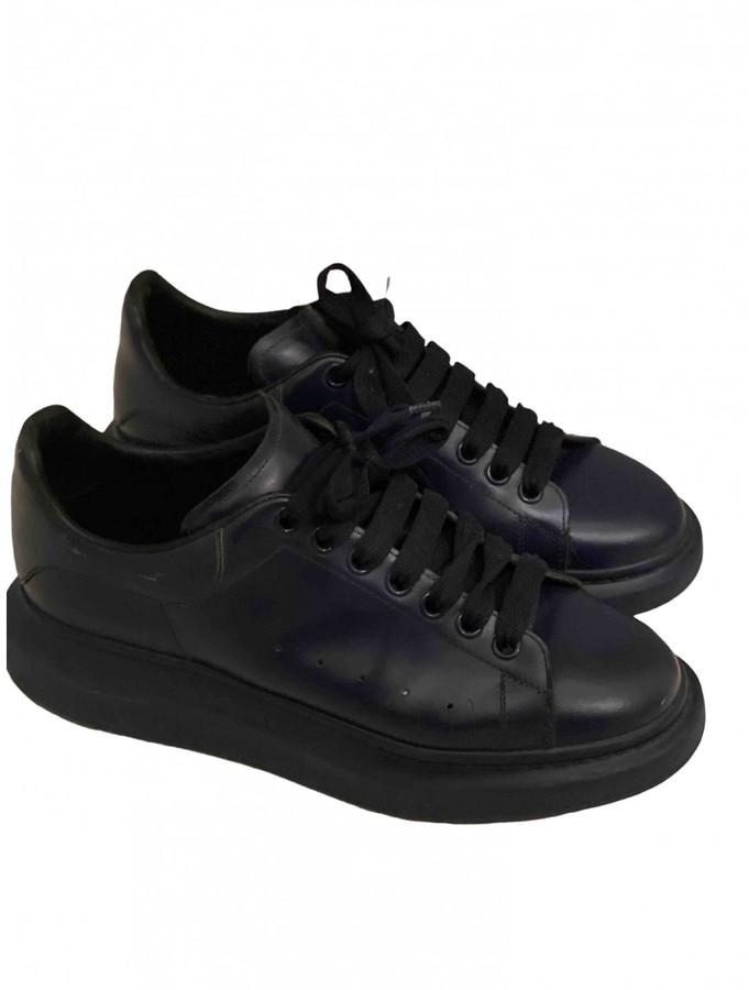 Alexander McQueen Oversize Navy Leather