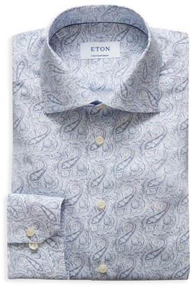 Eton Contemporary-Fit Paisley-Print Dress Shirt