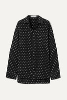 Balenciaga Masculin Printed Silk Shirt - Black