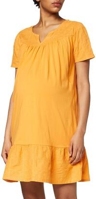 Queen Mum Women's Dress Jersey/Woven Nurs Ss Embr Newyork