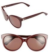 Ted Baker Women's 56Mm Cat Eye Sunglasses - Burgundy