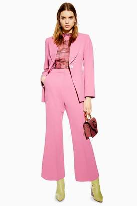 Topshop Womens Kick Flare Trousers - Pink