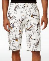 Sean John Men's Bird-Print Linen 12.5and#034; Shorts