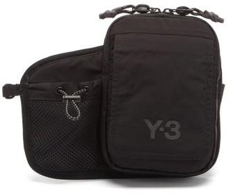Y-3 Ch3 Logo-print Shell And Mesh Belt Bag - Black