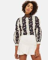 Topshop Panelled Flippy Mini Skirt
