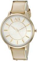 Armani Exchange A|X Women's AX5301 Analog Display Analog Quartz Beige Watch