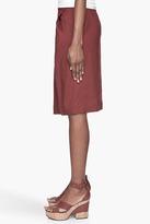 Chloé Mahogany red Skirt