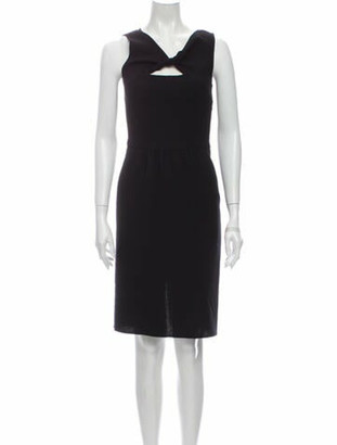 Oscar de la Renta 2010 Knee-Length Dress Wool