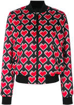 Love Moschino printed heart bomber jacket