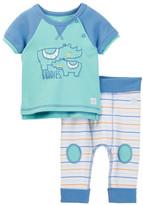 Boppy Rhino Raglan Sleeve Tee & Pant Set (Baby Boys)