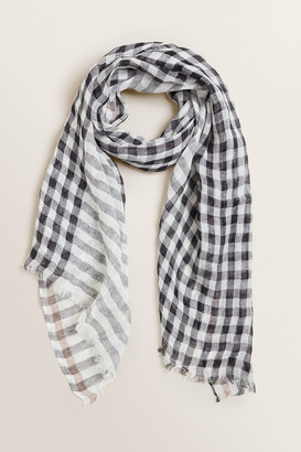 Seed Heritage Linen Check Scarf