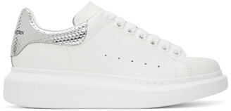 Alexander McQueen SSENSE Exclusive Off-White and Silver Hammered Oversized Sneaker