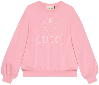 Gucci Oversize sweatshirt with cat print