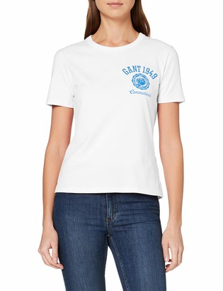 Gant Women's D1. Peony Logo Graphic Ss T-Shirt