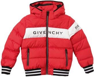 Givenchy Logo Print Nylon Puffer Jacket