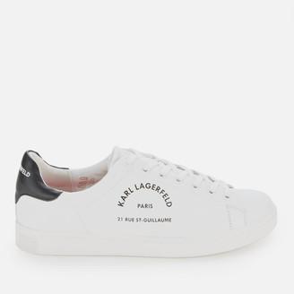 Karl Lagerfeld Paris Men's Kourt Maison Leather Trainers - White