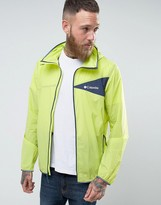 Columbia Addison Park Windbreaker Jacket Lightweight In Yellow