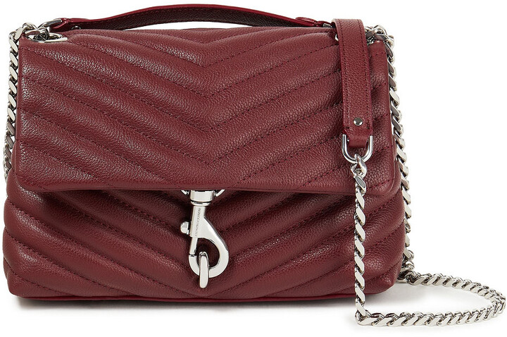Thumbnail for your product : Rebecca Minkoff Quilted Textured-leather Shoulder Bag
