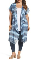 Bobeau Plus Size Women's Tie Dye Long Kimono