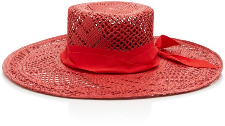 d26d832ac Studio Calado Grosgrain-Trimmed Straw Hat