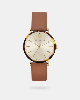 Ted Baker Leather Strap Tortoiseshell Watch