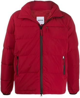 Aspesi front zip puffer jacket