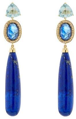 Nush Aquamarine Drop Earrings