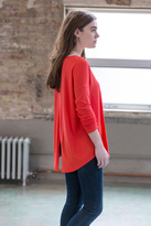 Lilla P Long Sleeve Slit Back Tee