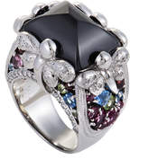 Heritage 18K 0.50 Ct. Tw. Diamond & Gemstone Ring