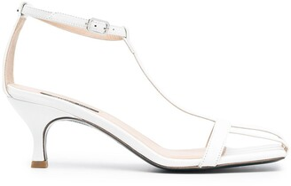 Patrizia Pepe Cage-Toe Leather Sandals