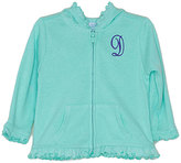 Princess Linens Ice Green Initial Hoodie - Infant Toddler & Girls