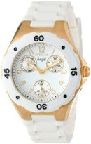 Invicta Women's 0718 Angel Collection Gold-Plated White Polyurethane Watch