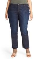 Eileen Fisher Plus Size Women's Straight Leg Crop Jeans