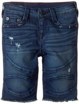 True Religion Geno French Terry Moto Shorts Boy's Shorts