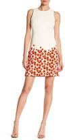 Taylor Poppy Hem Shift Dress