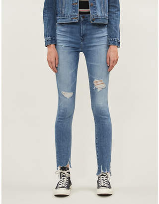 J Brand Alana cropped faded skinny high-rise jeans