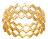 Lord & Taylor Cubic Zirconia Multi-Zigzag Ring