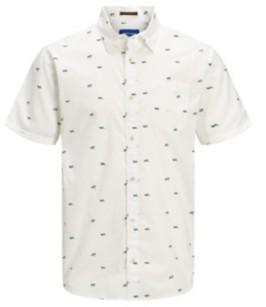 Jack and Jones Men's Short Sleeve Button Down Shirt