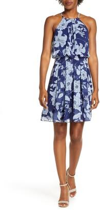 Brinker & Eliza Floral Print Halter Dress