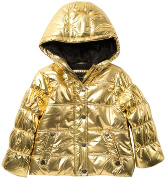 Jessica Simpson Metallic Faux Fur Lined Puffer Jacket (Little Girls)
