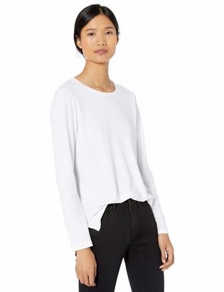 Goodthreads Washed Jersey Cotton Long-sleeve Crewneck T-shirt Black US (EU XS-S)