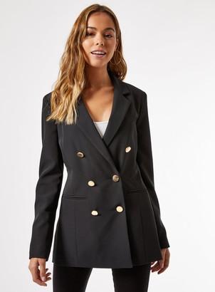 Miss Selfridge Black 6 Button Military Blazer