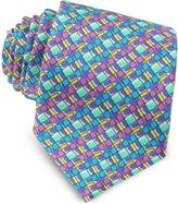 Missoni Multicolor Geometric Printed Silk Narrow Tie