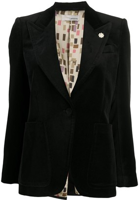 Lardini Fitted Button Up Blazer