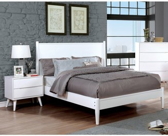 Furniture of America Fopp Mid-century White 2-piece Bedroom Set