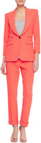 Smythe Cropped Cigarette Pants, Fluorescent Orange