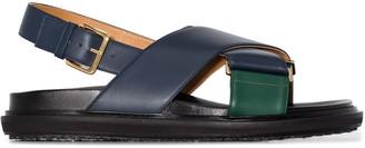 Marni Fussbett colour-block leather sandals