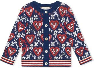Gucci Kids Love You jacquard cardigan